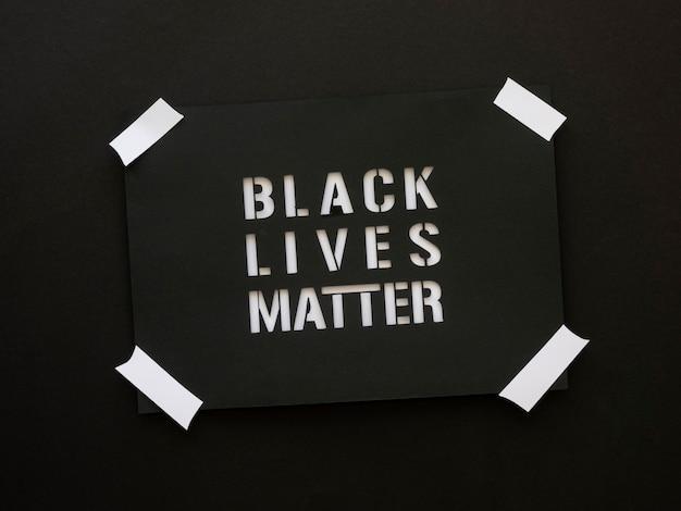 Schwarzer leben ist materietext