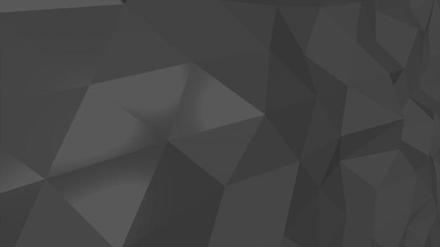 Schwarzer low-poly-abstrakter hintergrund, dreiecke geometrische form. eleganter und luxuriöser dynamischer stil für unternehmen, 3d-illustration