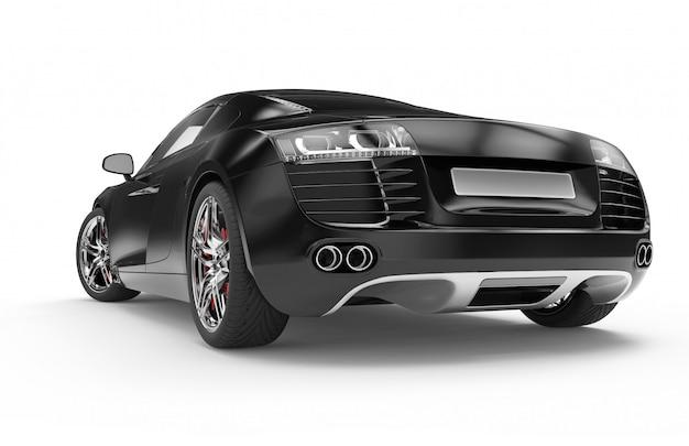 Schwarzer luxus-sportwagen