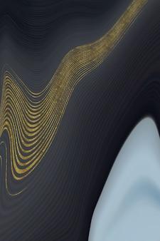 Schwarzer marmorhintergrund mit goldenem futter