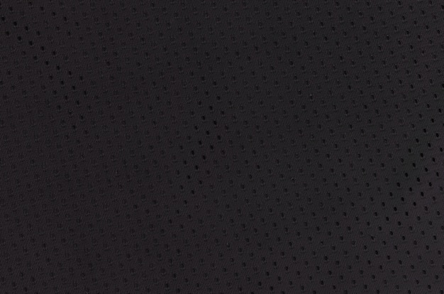 Schwarzer maschensportabnutzungs-gewebetextilhintergrund