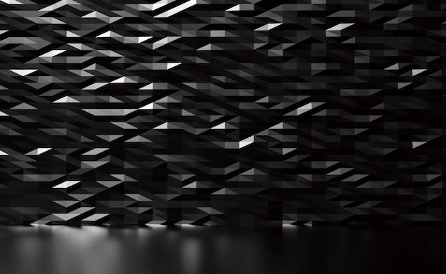 Schwarzer metallwandbeschaffenheits-3d-render