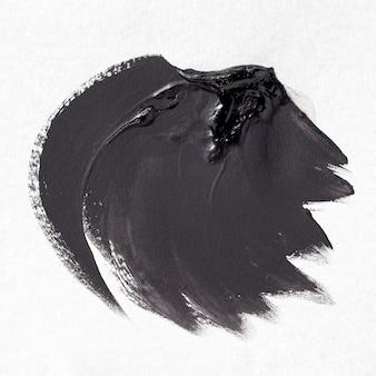 Schwarzer pinselstrich auf weißem hintergrund