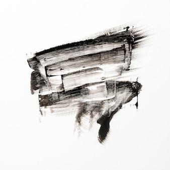 Schwarzer pinselstrich der abstrakten kunst