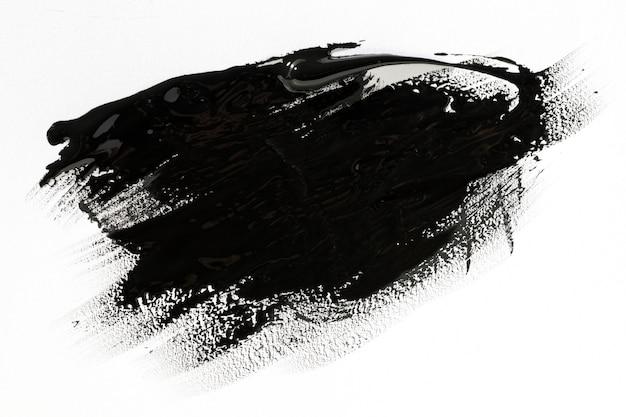 Schwarzer pinselstricheffekt