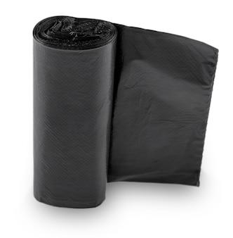 Schwarzer plastikmüll aus polyethylen