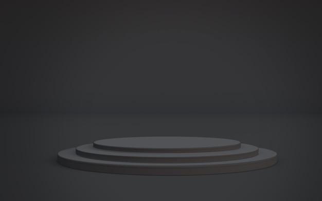 Schwarzer podium-plattform-hintergrund