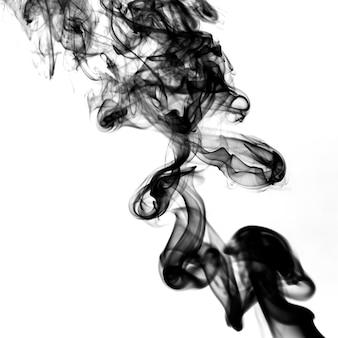 Schwarzer rauch der nahaufnahme