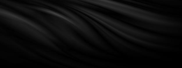 Schwarzer stoff textur hintergrund 3d-darstellung