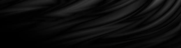 Schwarzer stoffhintergrund 3d-darstellung