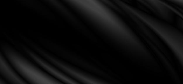 Schwarzer stoffhintergrund mit kopienraum 3d-darstellung