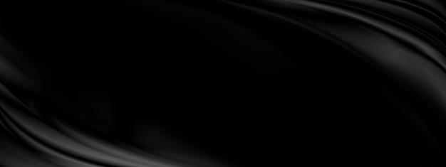 Schwarzer stoffhintergrund mit kopienraumillustration