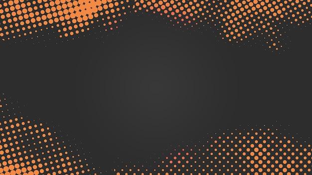 Schwarzer und orangefarbener halbtonhintergrund