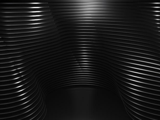 Schwarzer wellensockelhintergrund abstraktes minimales design