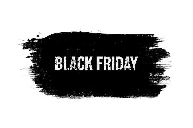 Schwarzes banner mit aufschrift ist auf weißem hintergrund isoliert. schwarzer freitag. saisonaler verkauf. foto in hoher qualität