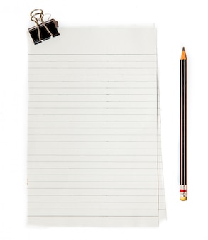 Schwarzes briefpapier mit bleistift