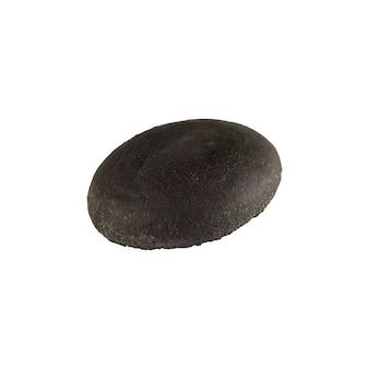 Schwarzes burgerbrötchen leer isoliert.