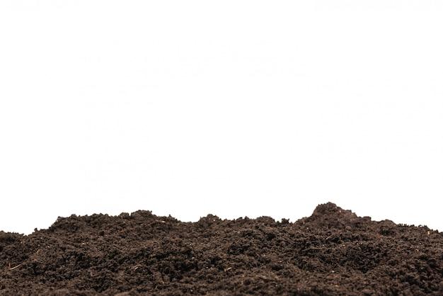 Schwarzes land für pflanzenhintergrund.