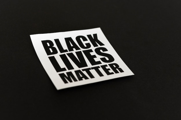 Schwarzes leben materie konzept hohen winkel