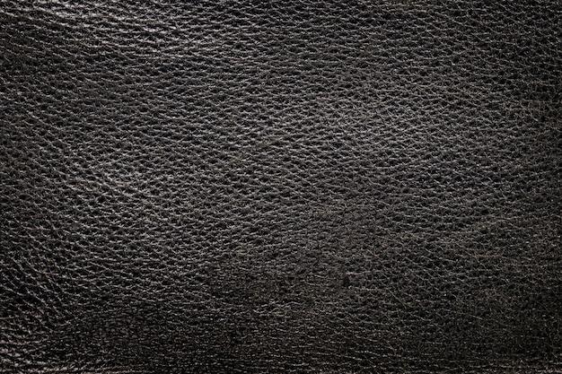 Schwarzes leder mit hintergrundstruktur und vignette und farbverlauf