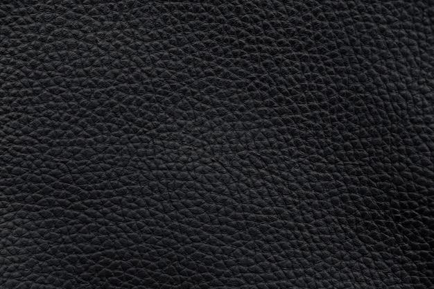 Schwarzes leder textur oberflächenmuster marco hintergrund