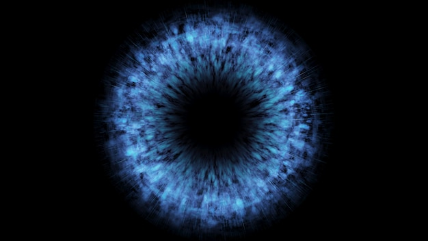 Schwarzes loch. abstrakte raumtapete. universum gefüllt 3d illustration