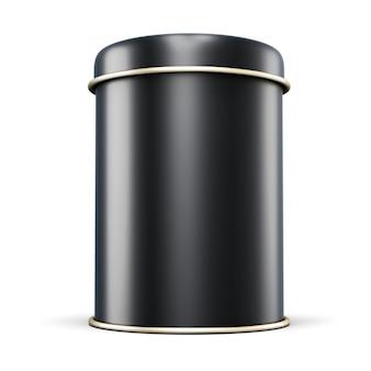 Schwarzes metallglas für tee