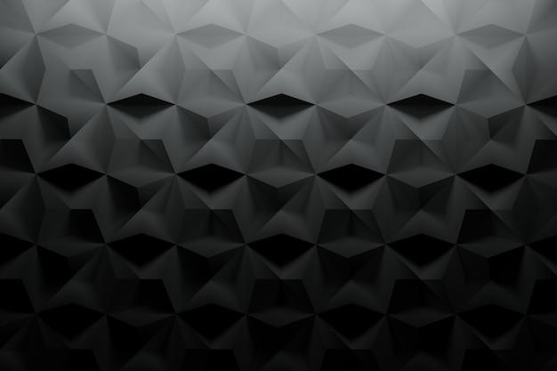 Schwarzes muster mit strukturierter oberfläche und zufälligen fliesen