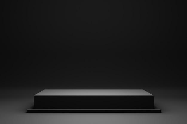 Schwarzes podium oder podest