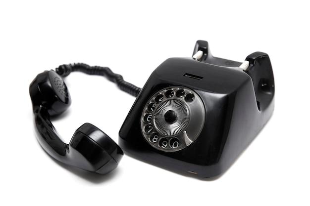 Schwarzes vintage telefon