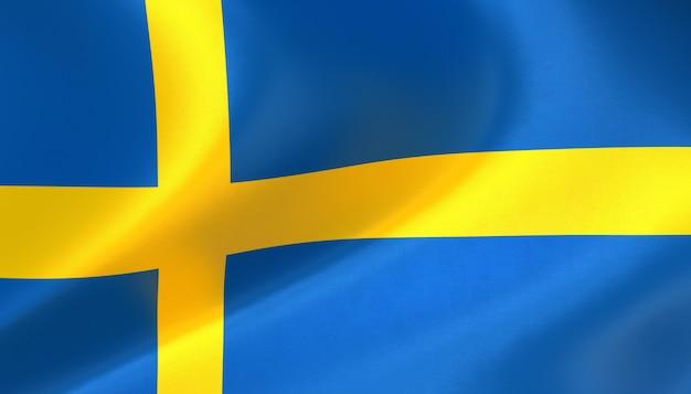 Schwedenflagge rendern mit textur