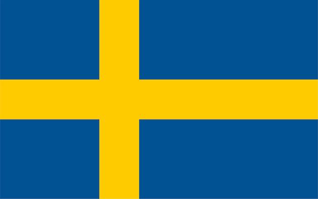 Schwedische flagge von schweden