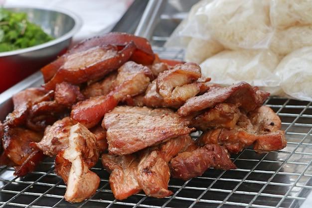 Schweinefleisch barbecue grill street food