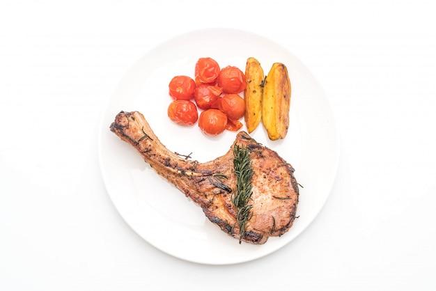 Schweinekotelett steak