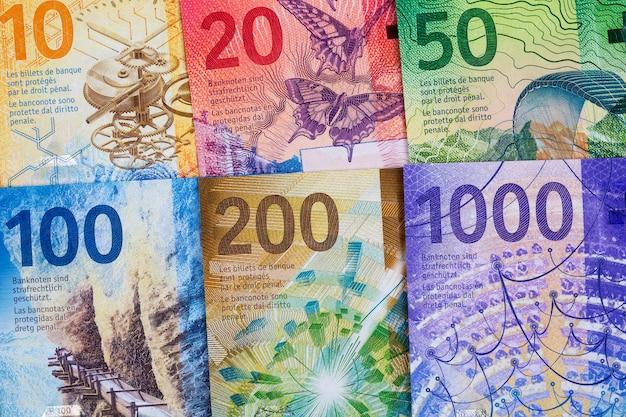 Schweizer franken banknoten