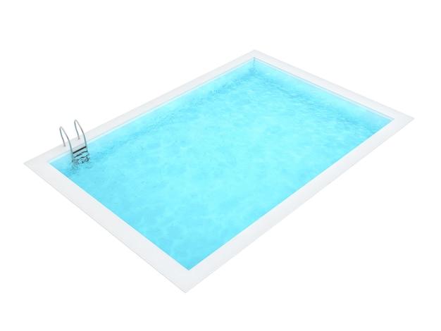 Schwimmbad auf weißem hintergrund