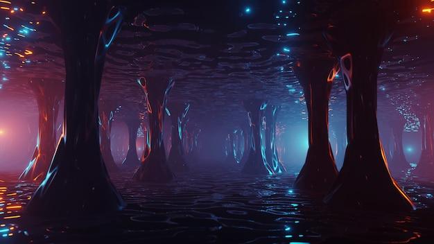 Sci fi futuristic fantasy seltsame alien-struktur