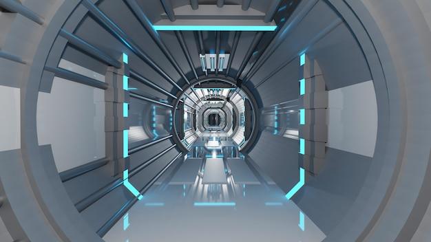 Sci-fi-korridorraum