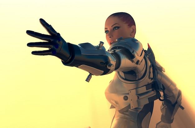 Science fiction femal robot