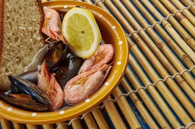 Seafood cioppino nach san francisco-art, nahaufnahme