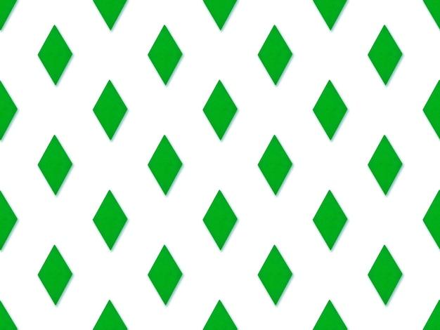 Seamles grüne raute abstraktes muster auf blauem hintergrund. nahtloses abstraktes muster mit dem bild von geometrischen formen.