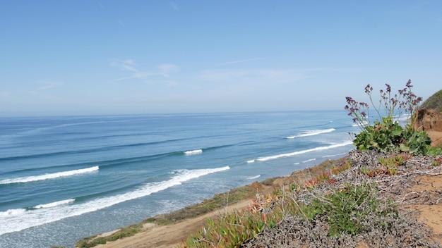 Seascape vista point del mar torrey pines kalifornien küste usa ozean flut blaue meereswelle übersehen