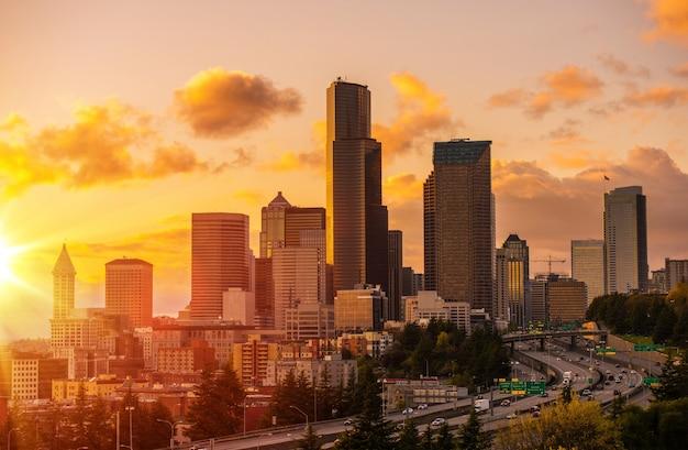 Seattle scenic sonnenuntergang
