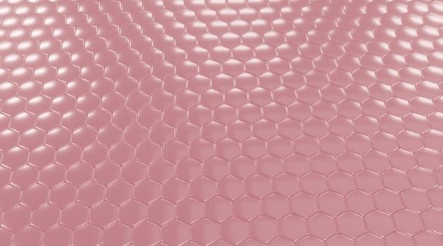 Sechseck rosa hintergrund.