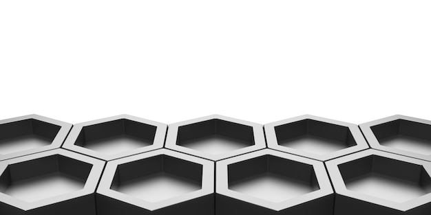 Sechseck zusammenfassung bienennest glänzendes sechseck sechseckige wand wabenmusterwand