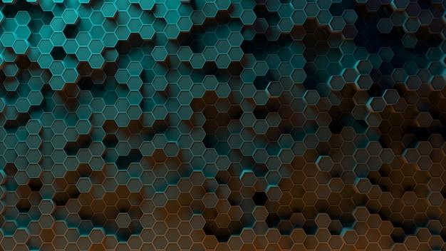 Sechseckmuster absorbieren. 3d-rendering