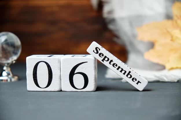 Sechster tag des herbstmonats kalender september