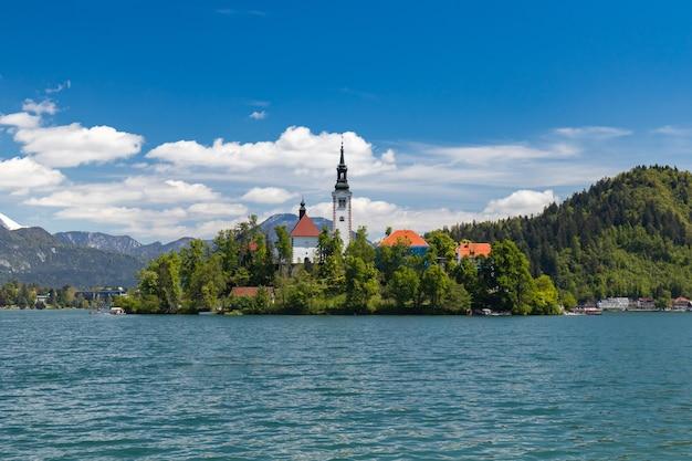 See in der stadt bled, slowenien, triglav-nationalpark