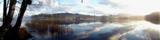 Seengebiet panorama der natur