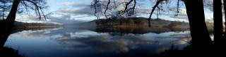 Seengebiet panorama reflexion